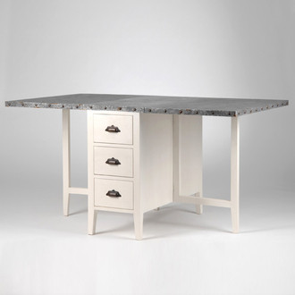 Table allonge rabattable zing amadeus maison and deco for Table escamotable cuisine tiroir